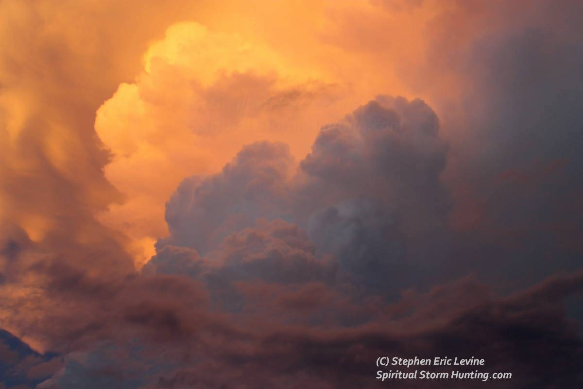 Magnificent supercell thunderhead captured at sunset, Richardson Texas; June 2012. My jaw hung in awe, and it captivated many people who were out for an evening walk.