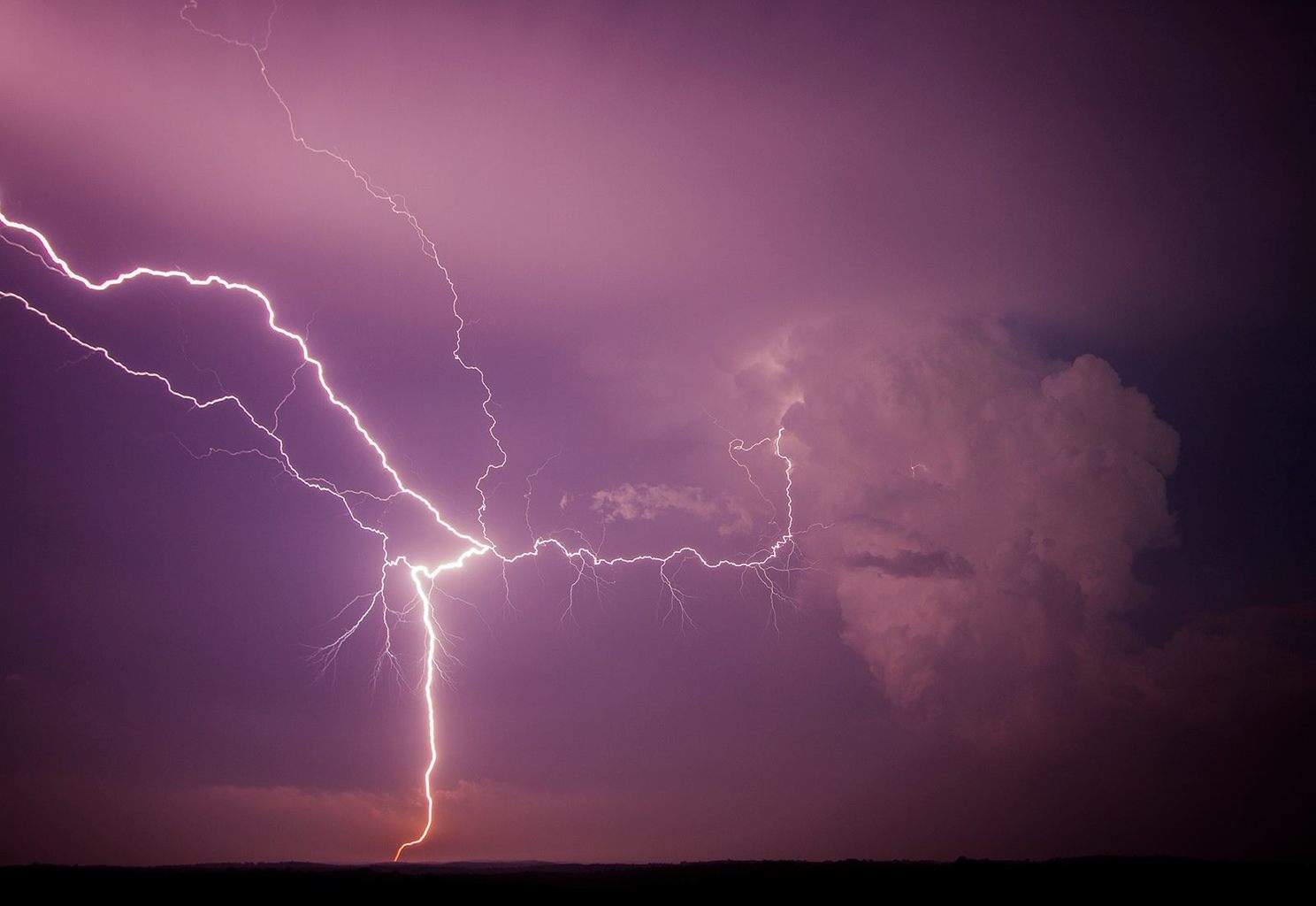 Some of the crazy, out of this world lightning in central Nebraska near Broken Bow on May 26 2013.