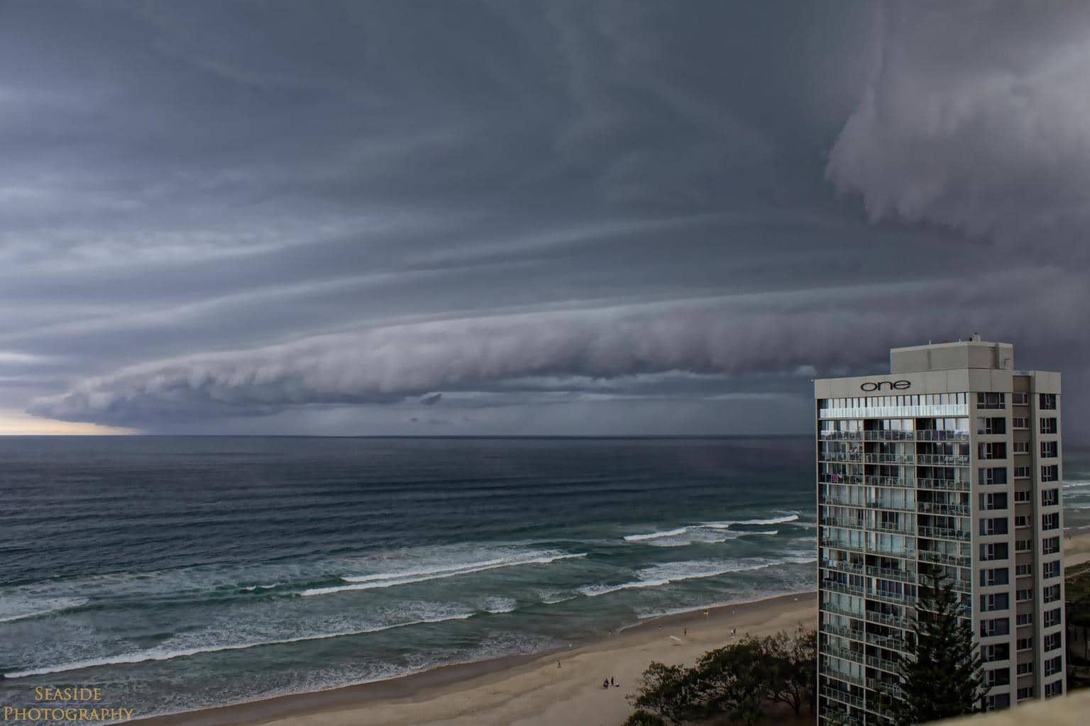This was a huge storm that was coming in over Surfers Paradise Queensland Australia last year, this shelf cloud was amazing to see transform