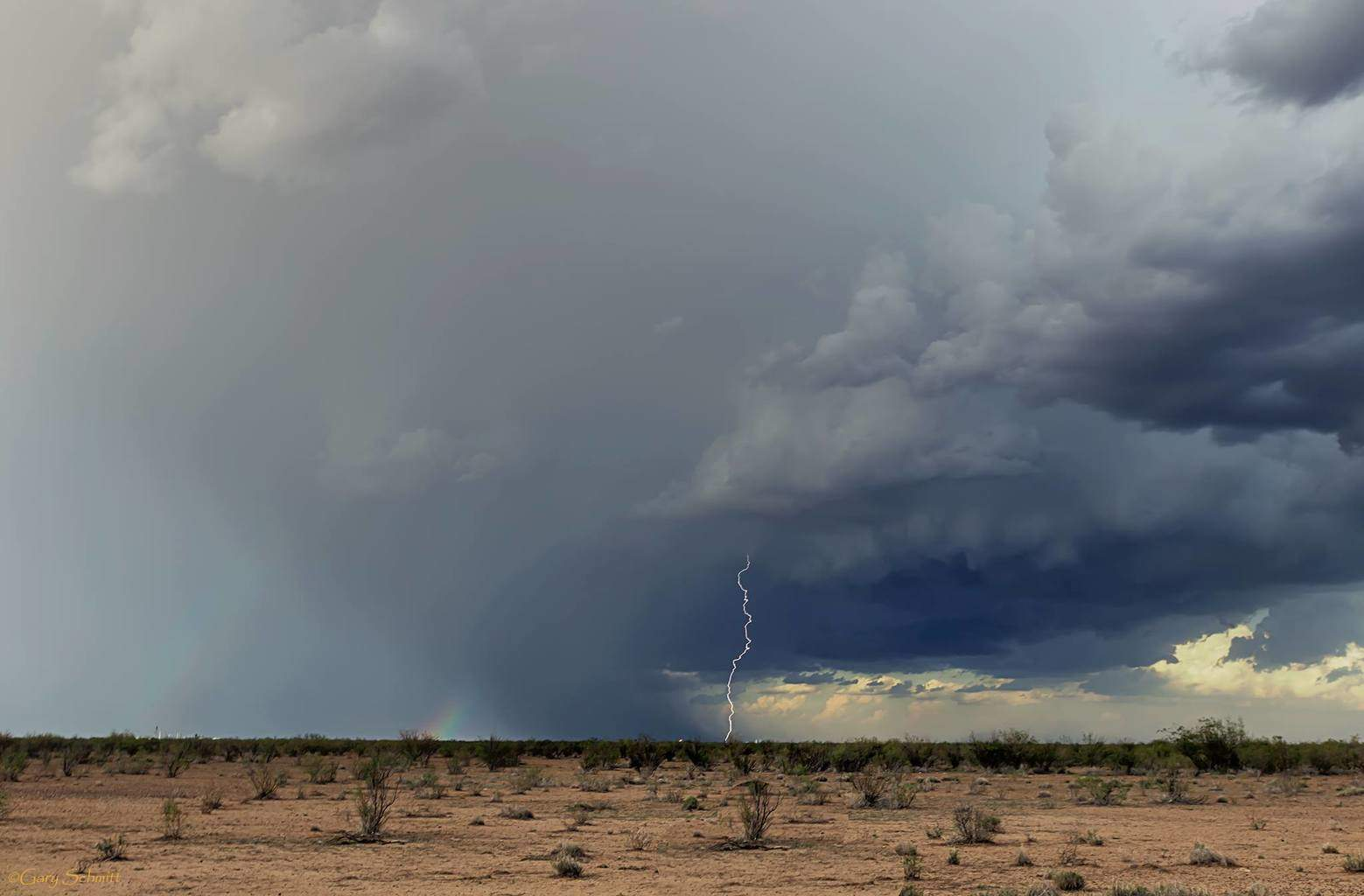 West Texas monsoon and lightning !!