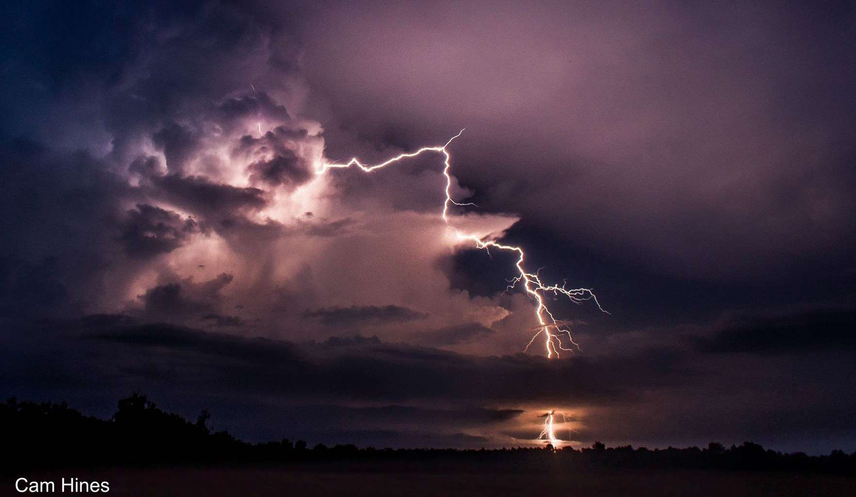 Some clear air lightning from New Years Eve in Weipa, Cape York, Australia. Best New Years Fireworks display that anyone could ask for!
