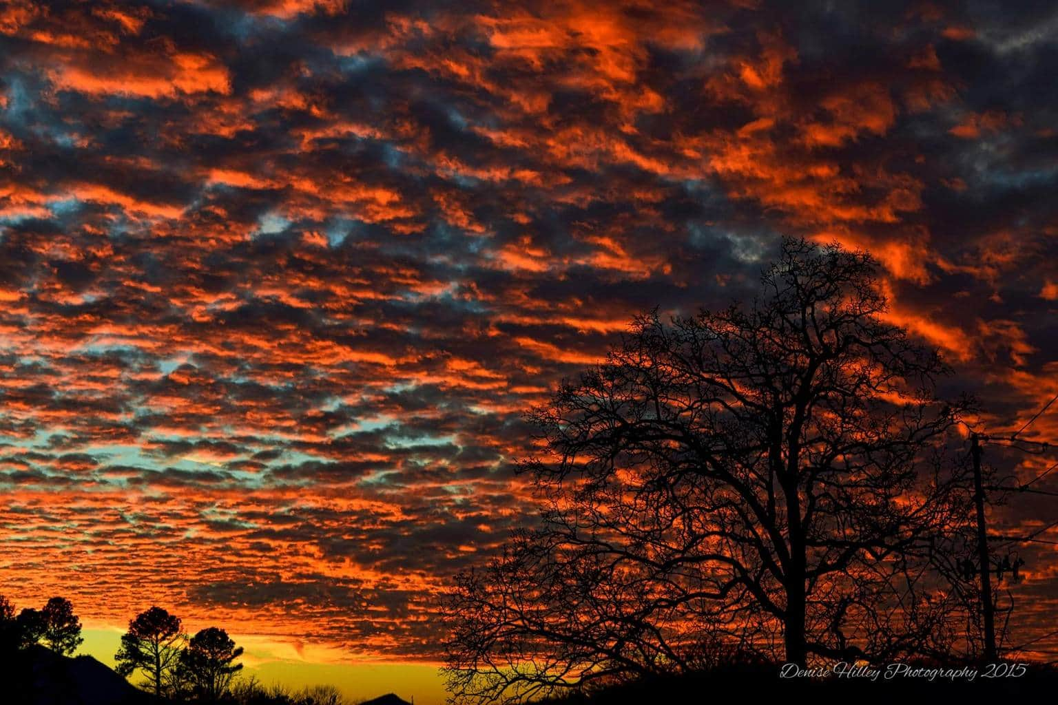 """""""Smoky Mountain Sky Awesomeness"""" Last night awesome sunset in Sevierville, TN"""