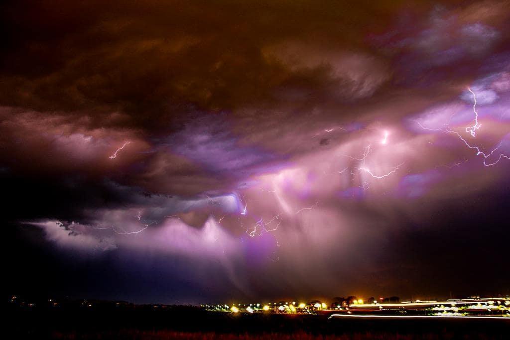 On the Edge of a Thunderstorm June 14, 2013 Kearney Nebraska US