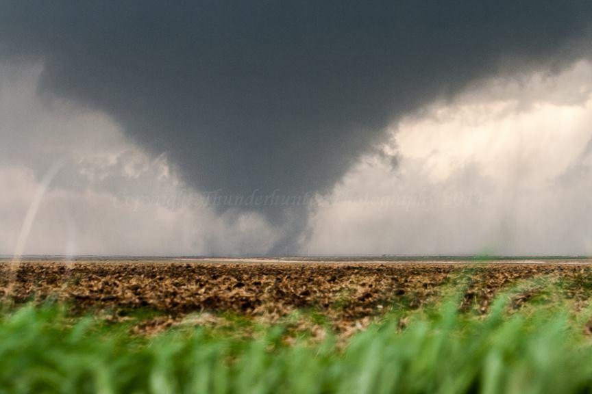 Multi-vortex tornado, near Hoxie Kansas - May 22nd 2008