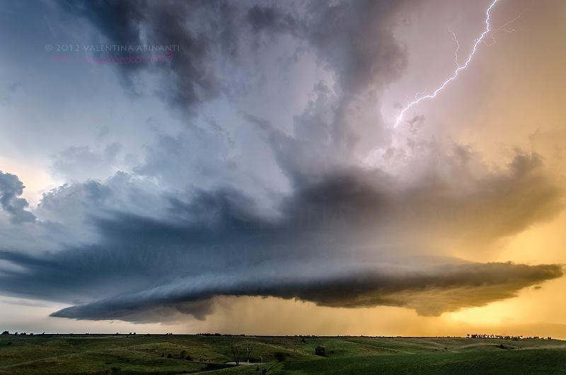 Supercell near Scotia, Nebraska. May 4th 2012.