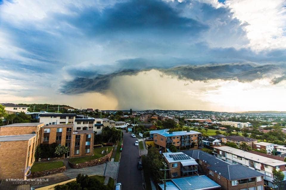 Sky dump. This was taken over Cooks Hill in Newcastle, Australia. 9/12/14. It was short lived and went straight out to sea.