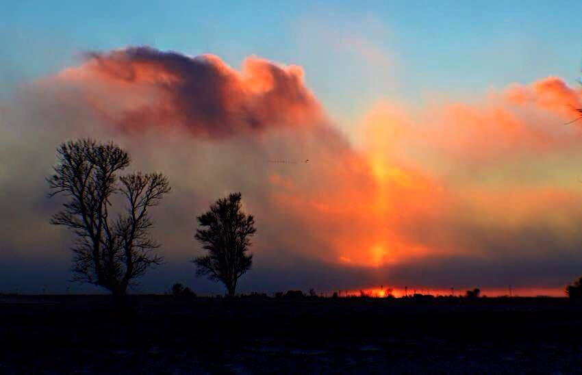 Last night's sunset near Kangley, IL.