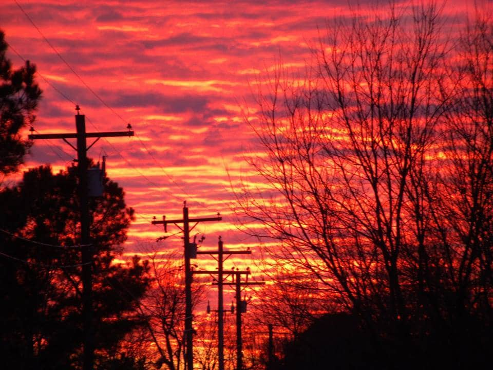 1-20-2015 Sunset in Siloam Springs, Arkansas