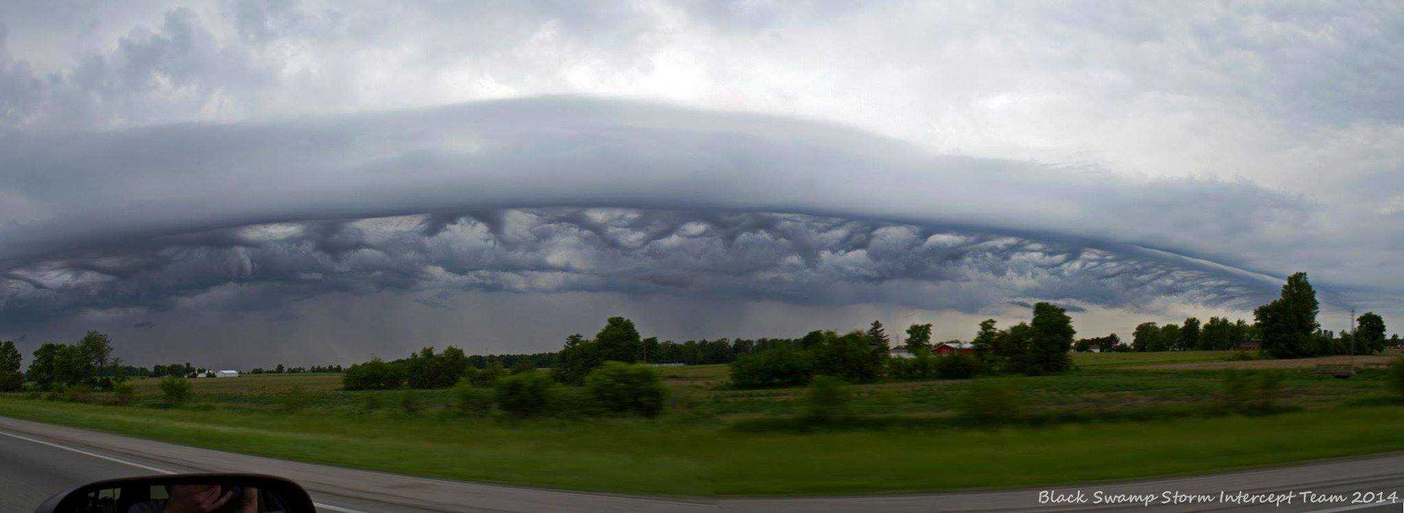 One of the most interesting shots from last year, odd cloud formations / shelf on the leading edge of a weak storm. East Ohio, June 2014.