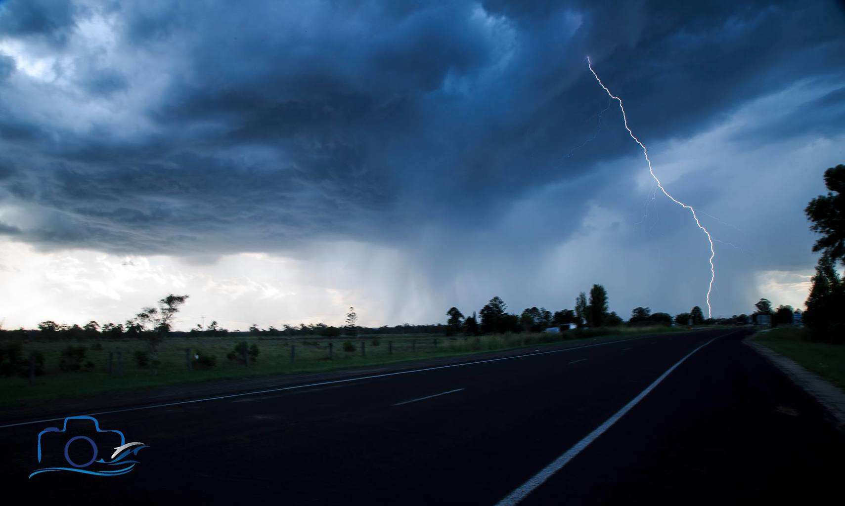 After a stinking hot day here in Casino, NSW a nice storm rolled in a couple of hours ago where I finally captured my first daytime bolt.