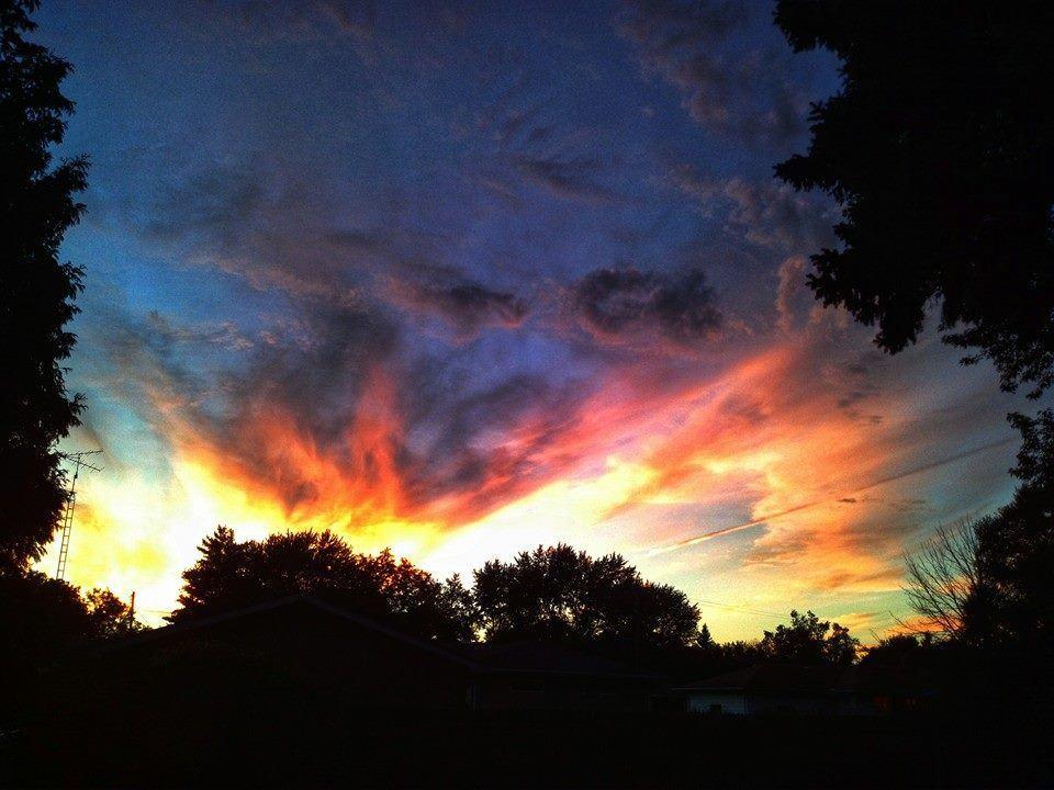 Sunset taken from my back yard this summer in Burton Michigan.