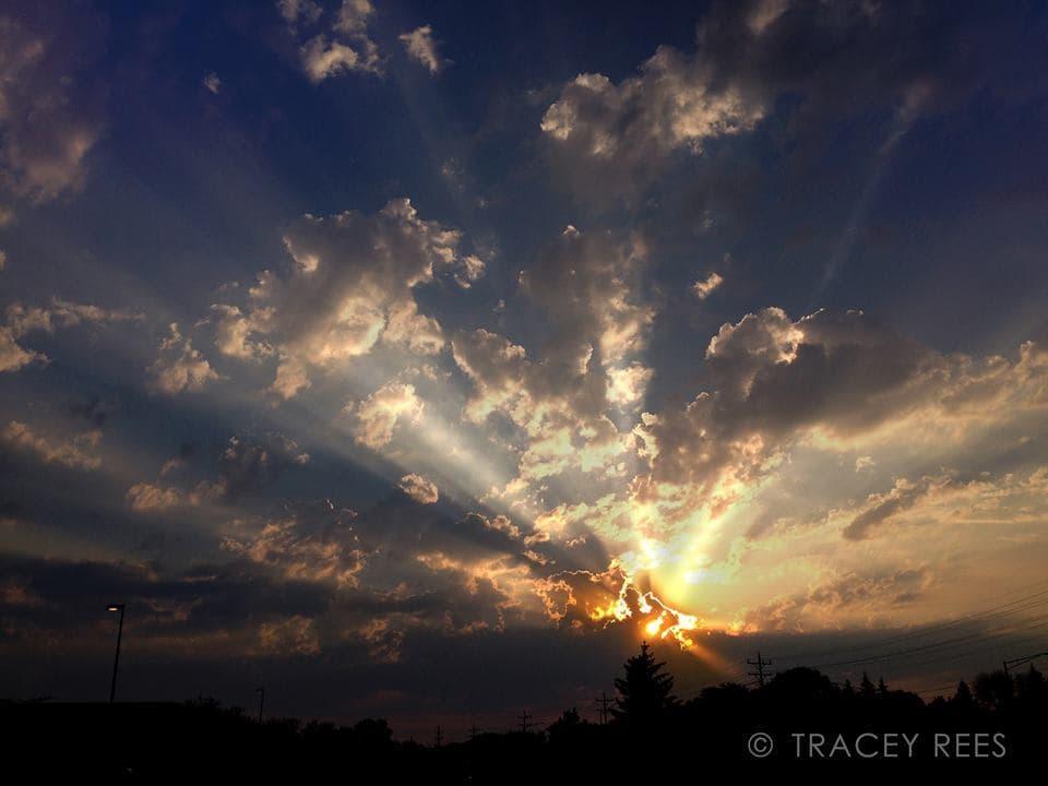 God Rays. Summer of 2014, Naperville, Illinois