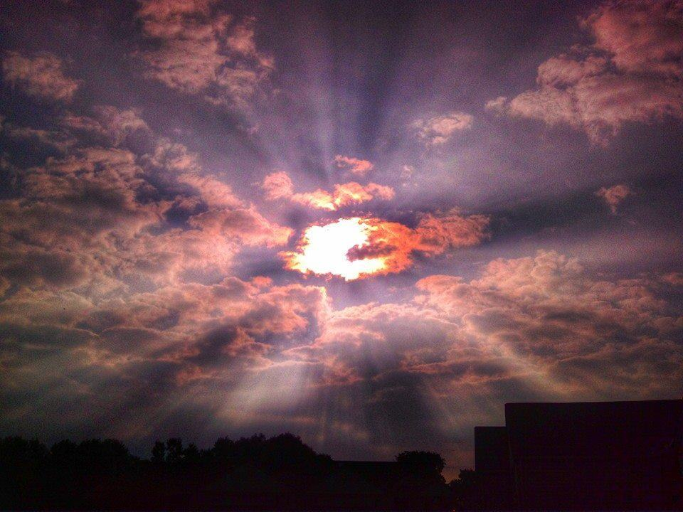 Sunrise taken in Davison Michigan. June 2014.