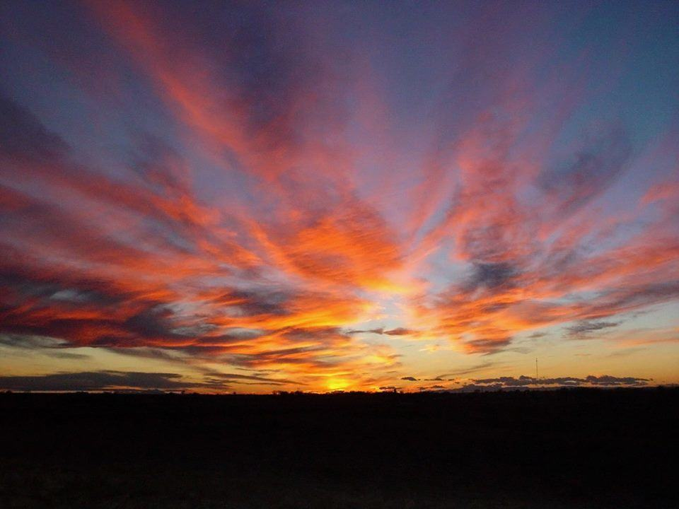 Sunset from Feb. 14, 2004, southeastern Colorado!