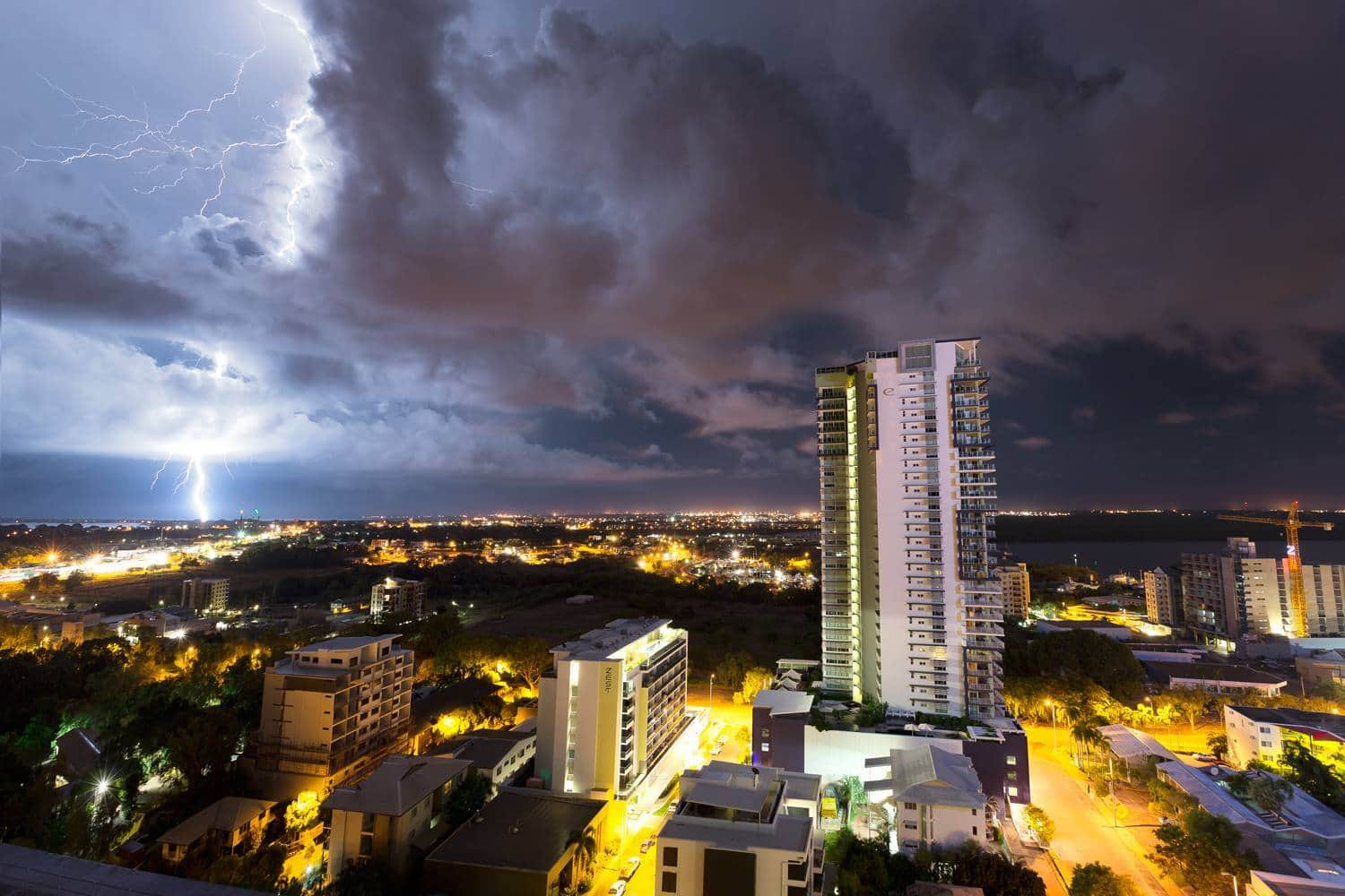 Darwin - Northern Territory Australia Hanging off a balcony watching the storm smash bolts down around the place is something else! highly recommend you do it