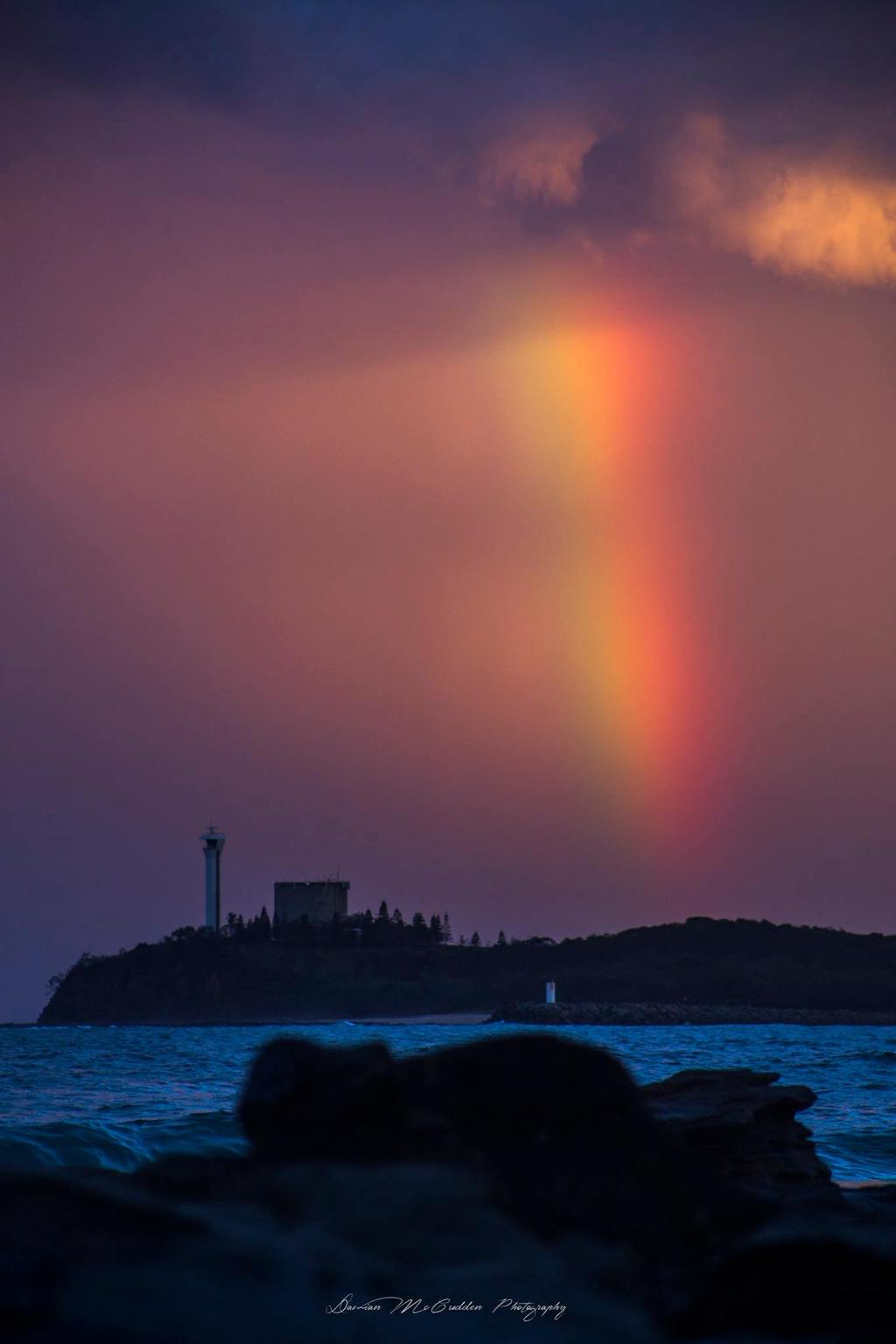 Post storm rainbow, Took this after a storm cleared the coast off Mooloolaba, Australia.  This was taken during Sunset last year