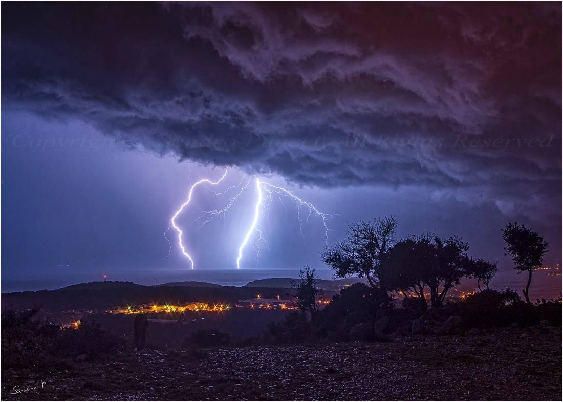 Thunderstorm above my city, 16.11.2014. M.Lošinj / Croatia