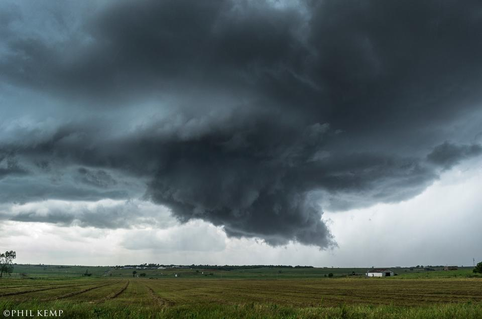 Nice looking wall cloud on this Oklahoma supercell. May 30 2013.