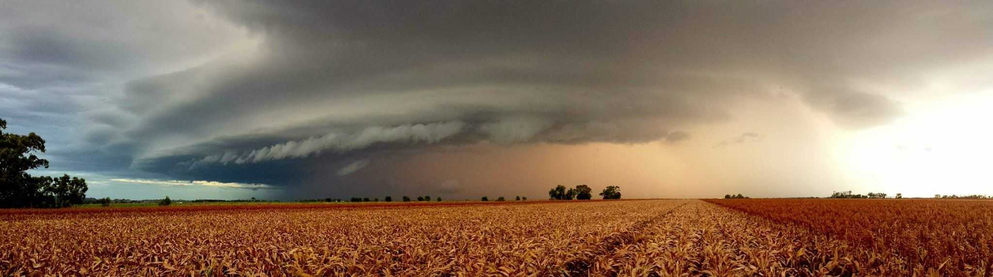 Here Is A Shot Of Today's Storms Over South East Queensland, Australia. Beautiful Formation