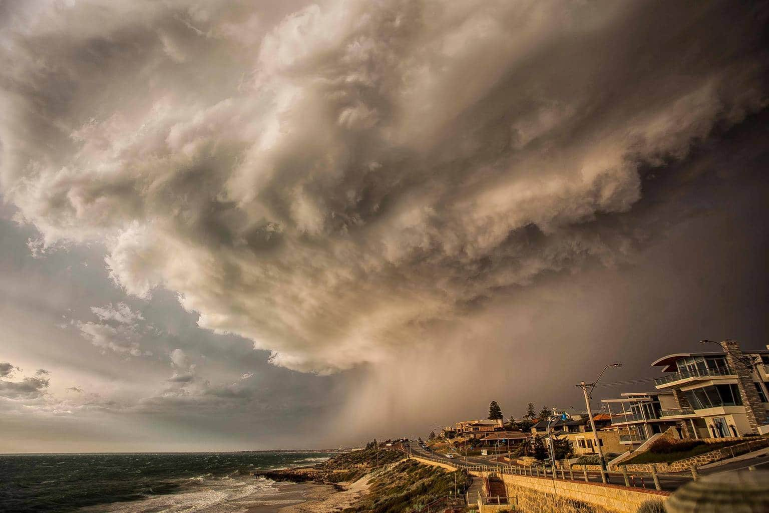 I am going to post one of my Storm Shots of a Hail Storm on November 24 2012,Location is North Beach Western Australia, this was an amazing Cell I was at a photoshoot location for a sunset shoot and this cell started twisting in the clouds and I watched it for about 2 hours and then it produced this whopper! I couldn't believe my eyes. Look forward to posting more shots some amazing photographers in this group.
