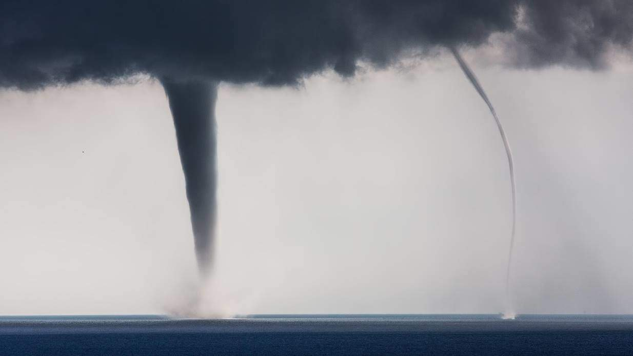 Developing of Stanlio and Olio smile emoticon ,a crazy day on Istrian coast (Croatia) on 24.06.2013 with more then 10 confirmed waterspouts.