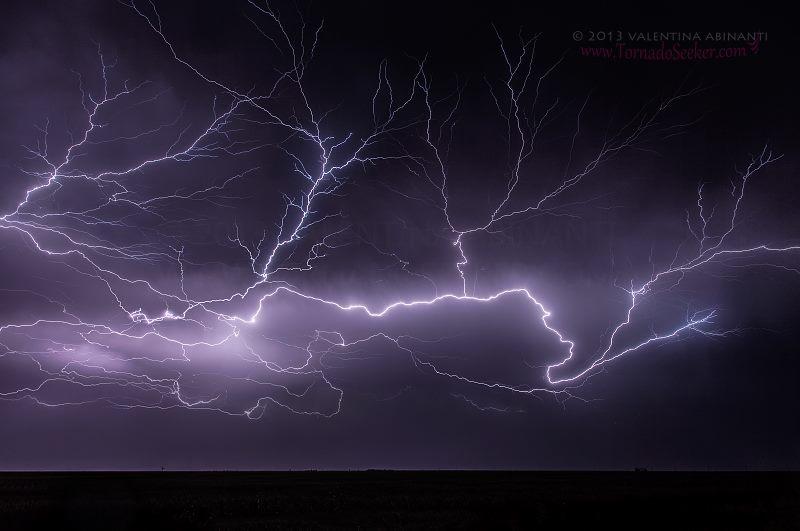 Lightnings near Ness City, Kansas. May 29th 2013.