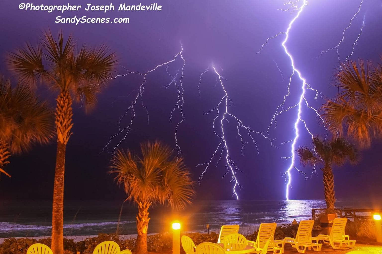 2 years ago winter lightning looked like this...today you can't buy a lightning flash! Taken 2/24/2013 in Panama City Beach, Florida