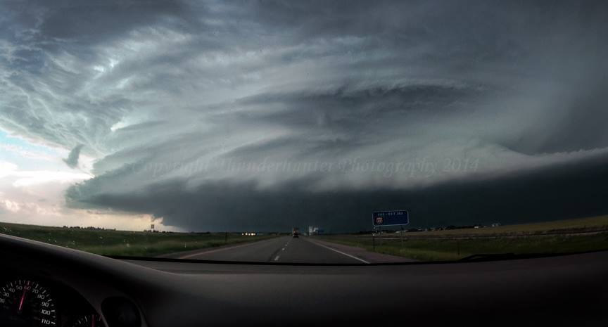 Approaching the epic Rings of Saturn Supercell, Colorado - June 2nd 2005