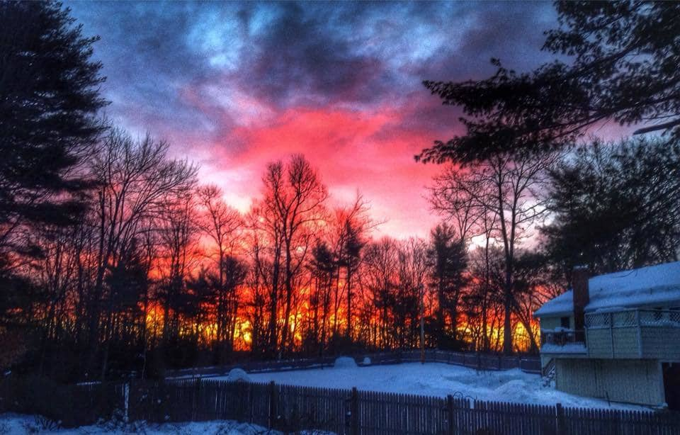 Sunrise this morning from my back yard.