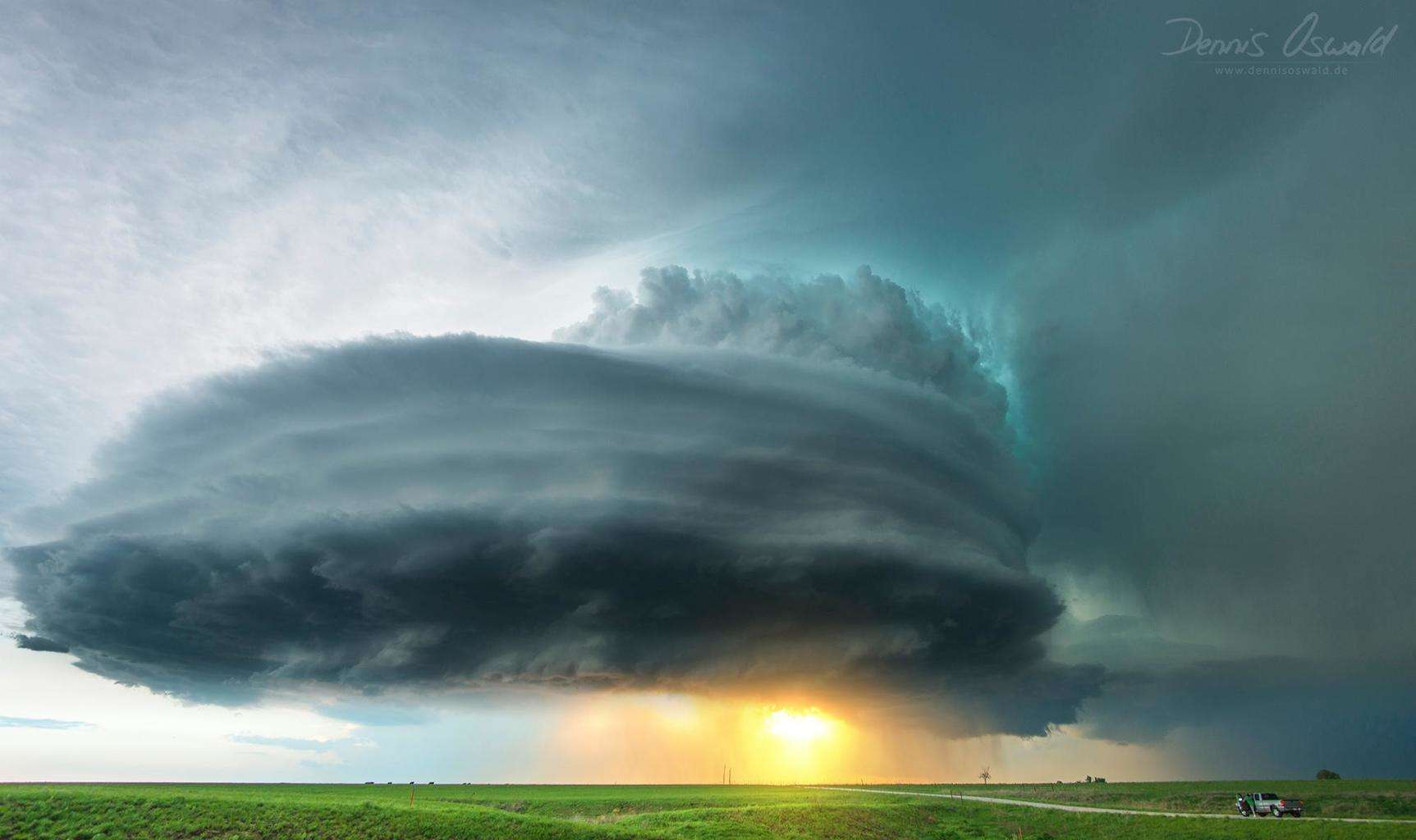 Sunset supercell just north of Howard,KS on May 10th 2014.  This was a very photogenic chaseday in southeast Kansas.