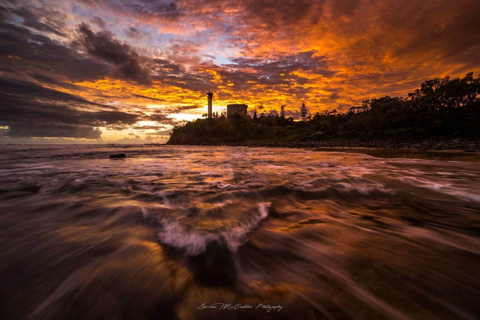 I shot this sunrise image about 3 hours ago smile emoticon  Shot at Point Cartwright, Australia. It's the best sunrise I've ever seen.