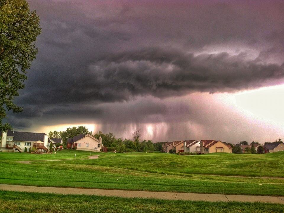 A severe warned thunderstorm over Grand Blanc Michigan.