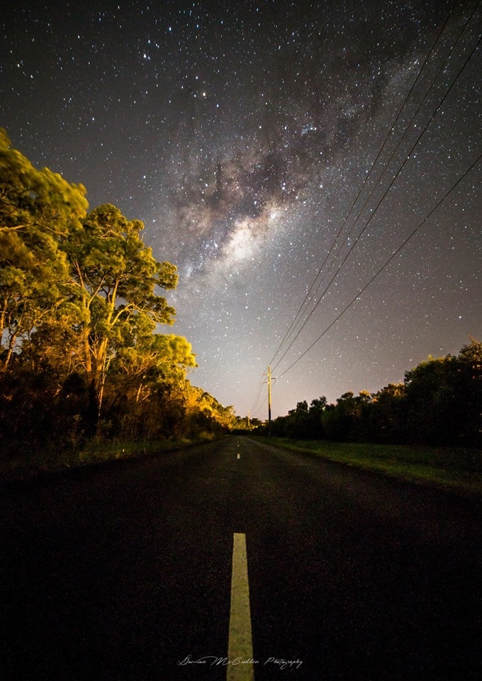 The Milky Way rising over a road in Australia.  I took this image at 3am this morning, Sunday 22nd Feb.