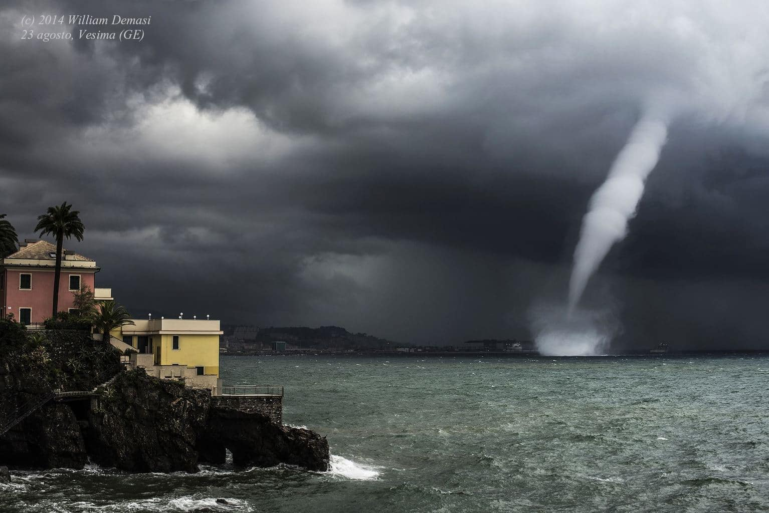 Waterspout near Vesima (GE) Italy - August 23,2014