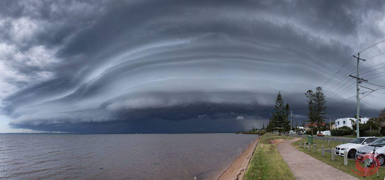 Another shot from the Brisbane Shelf from yesterday just before the hail.  This is only a 9 shot pano though