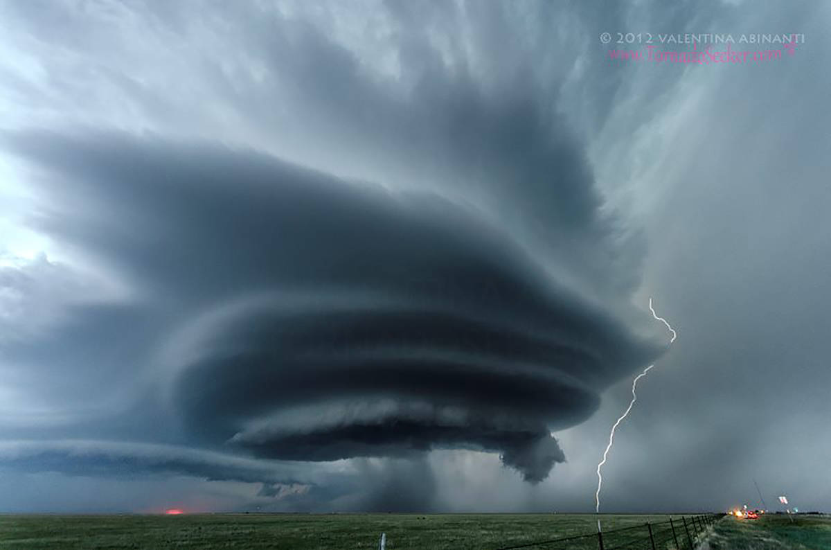 Supercell and lightning, Vega, Texas. May 21st 2012.