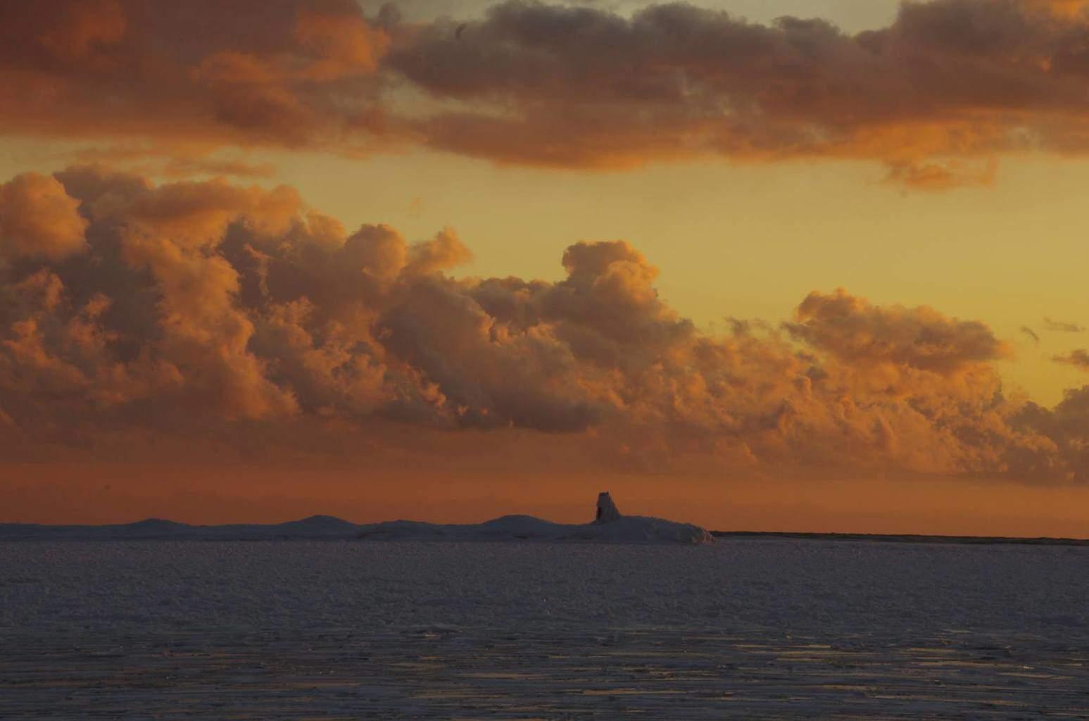 Sun lit clouds tonight at sunset.