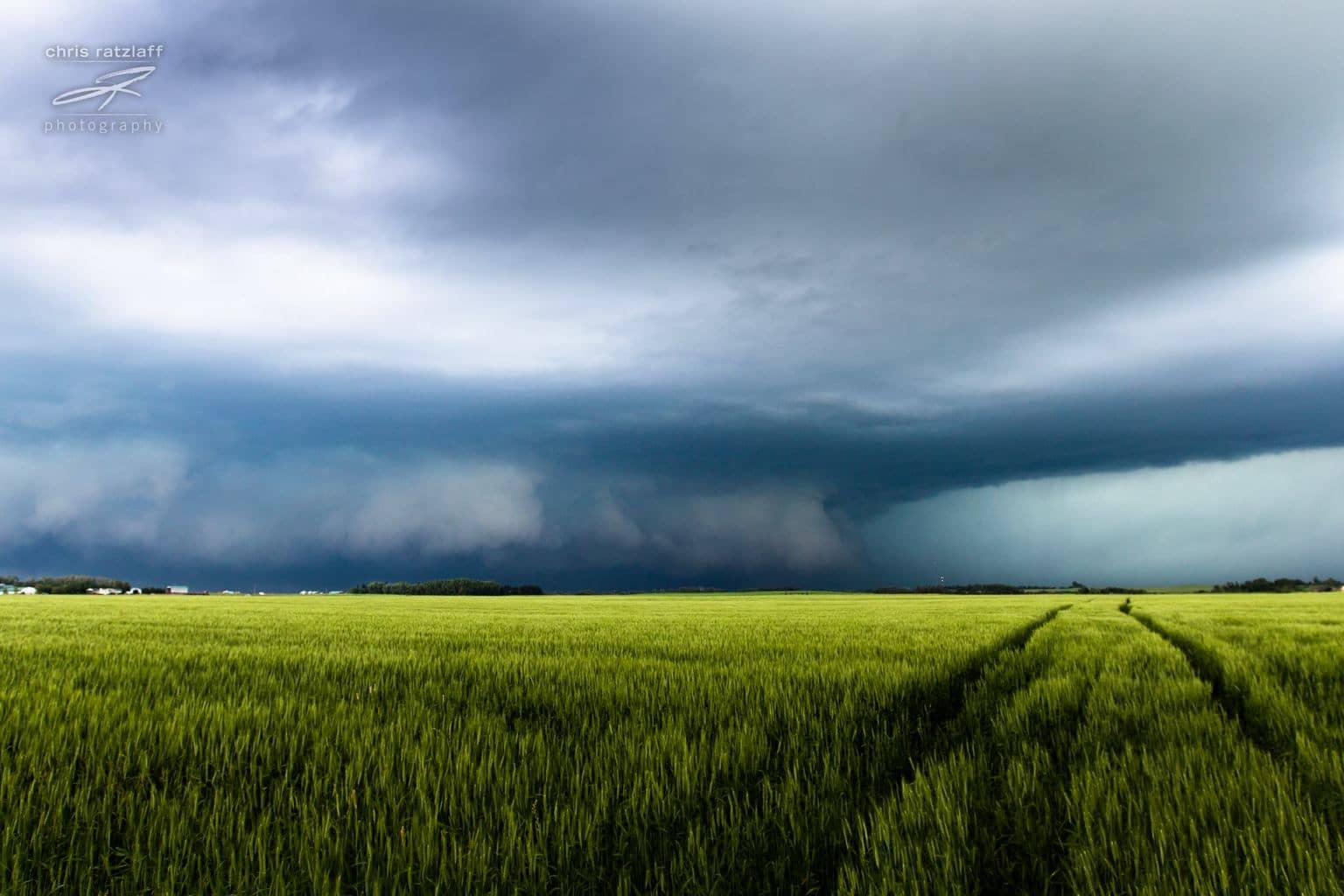 Here's a ground-scraper from a tornado-warned storm in central Alberta on July 19, 2014.