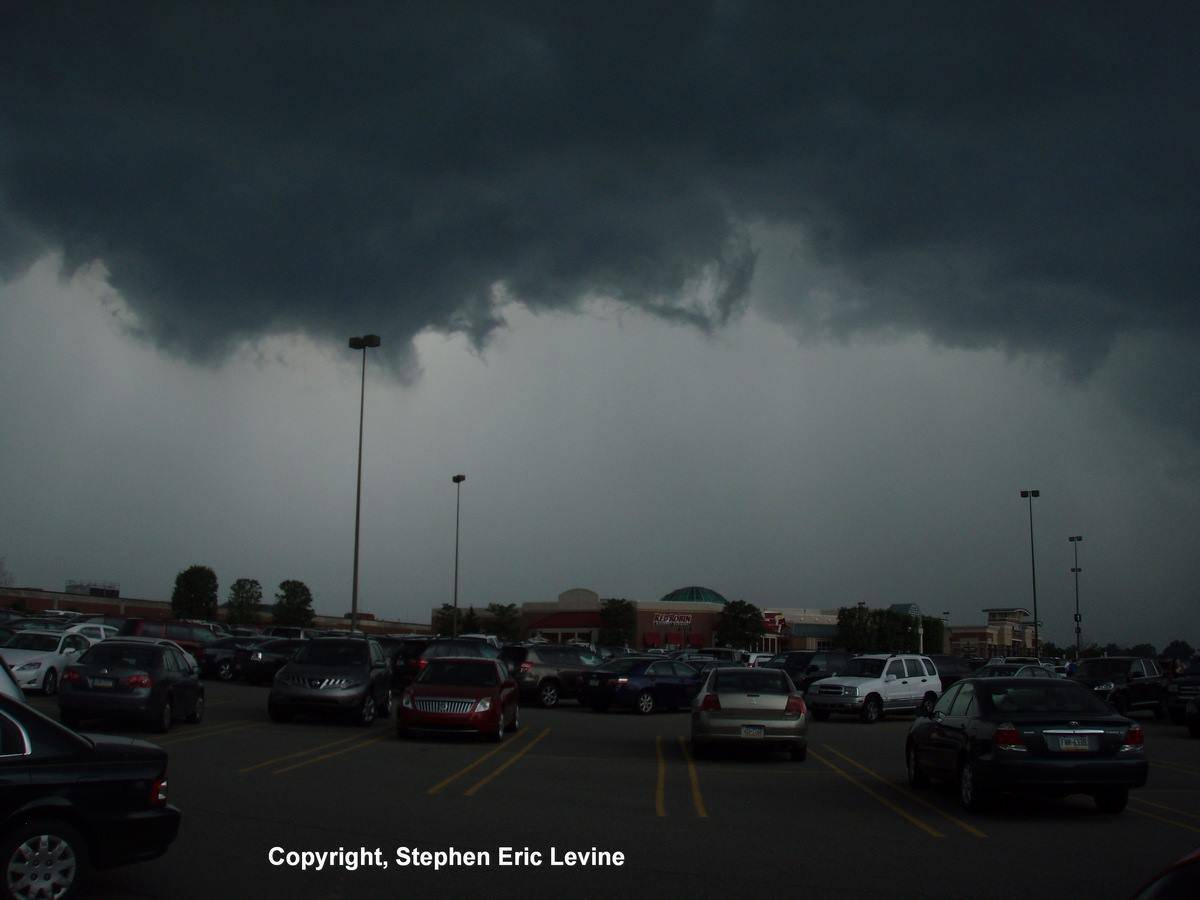 A squall line bears down on South Hills Village, Mt. Lebanon, PA; about 12 miles south of downtown Pittsburgh. Photo captured June, 2011.
