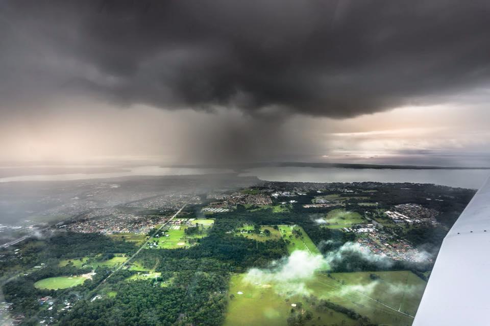 Some weather over Tuggerah Lake, NSW,Australia