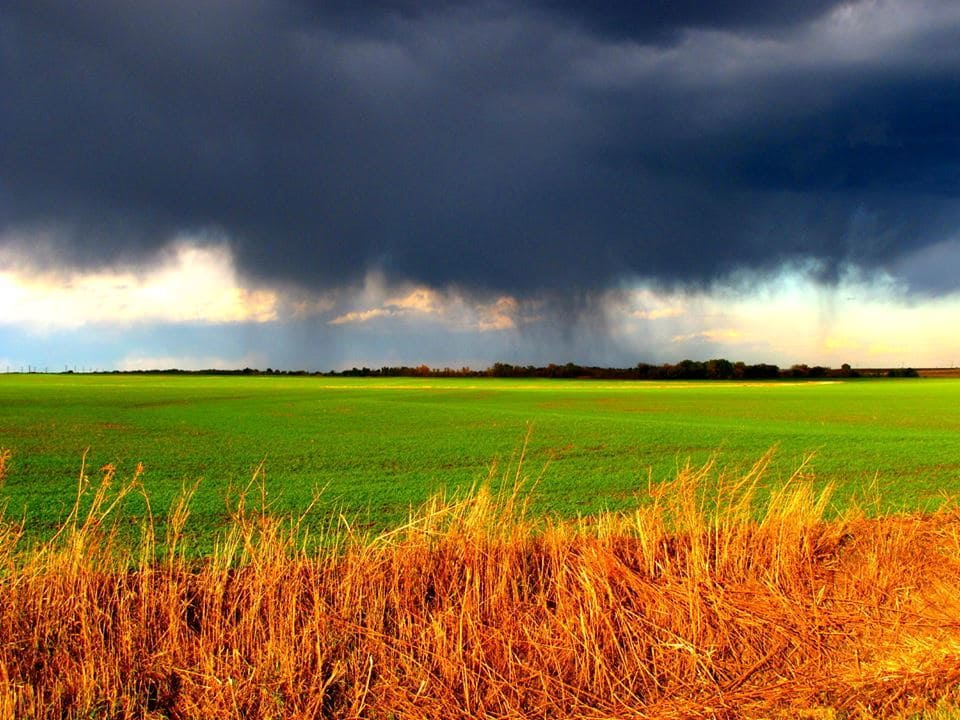 Late fall storm in Kansas.