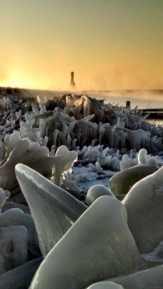 "A ""Still"" frozen Port Washington, Wisconsin. -7"