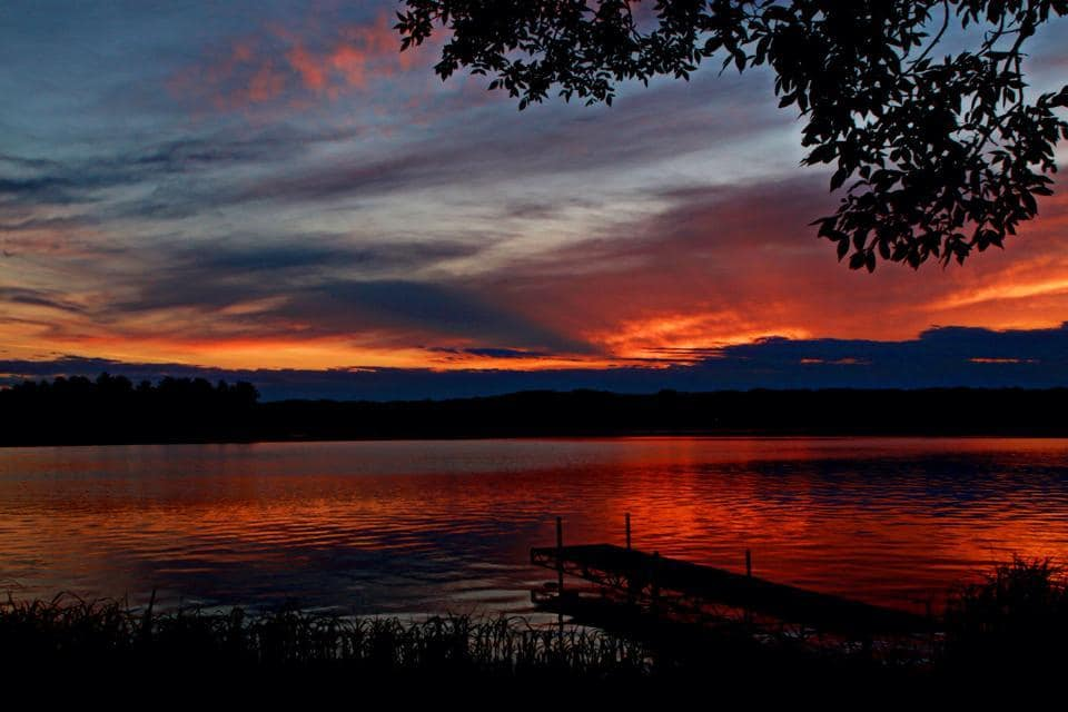 Image was taken this past summer, Siren, Wi Upper Clam Lake. One of my favorite sunsets