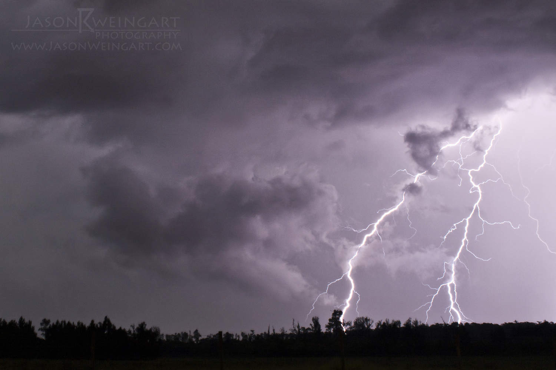 Cloud to ground lightning in Palm Coast, FL