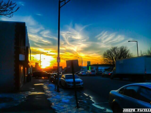 Amazing sunset yesterday near Millbourne / Upper Darby border in Pennsylvania yesterday evening