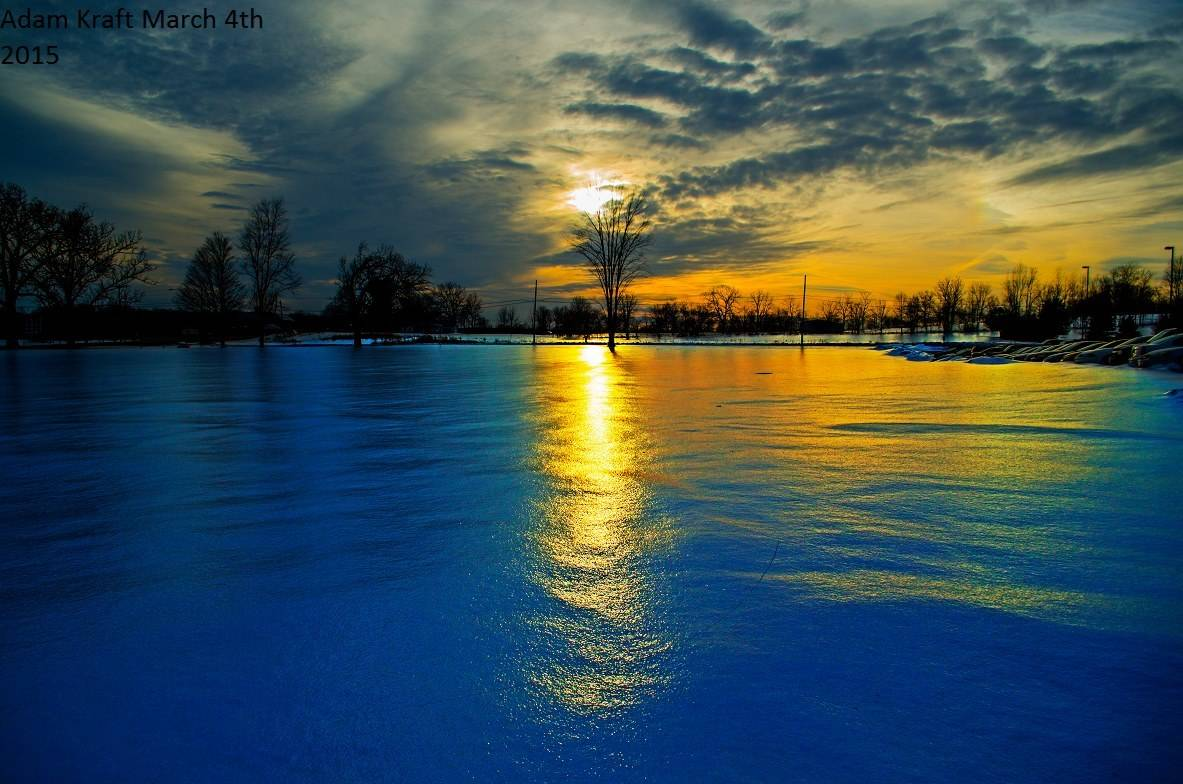 """The fields across a lot of lower Michigan resemble that of glassy frozen ponds. Freezing Rain yesterday fell on 12-14"""" of old snow and created quite the spectacle. Taken in Spring Arbor MI"""