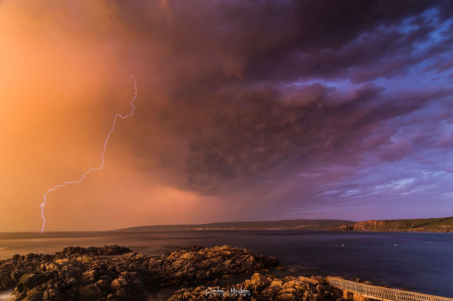 Image from 3rd February 2015, Yallingup, Western Australia. Was an awesome sunset lightning show.