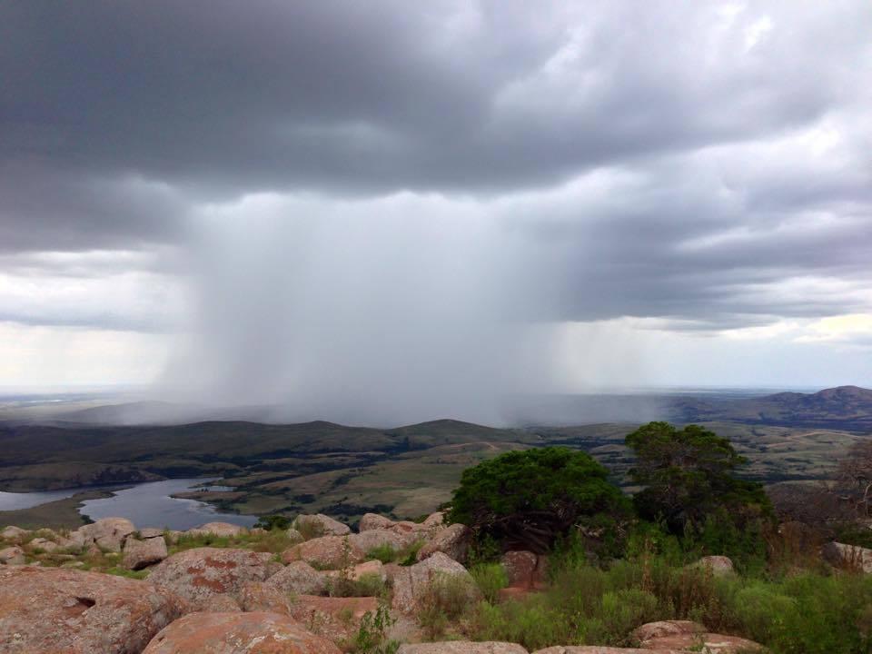 Rain storm approaching Mt Scott a few years ago.