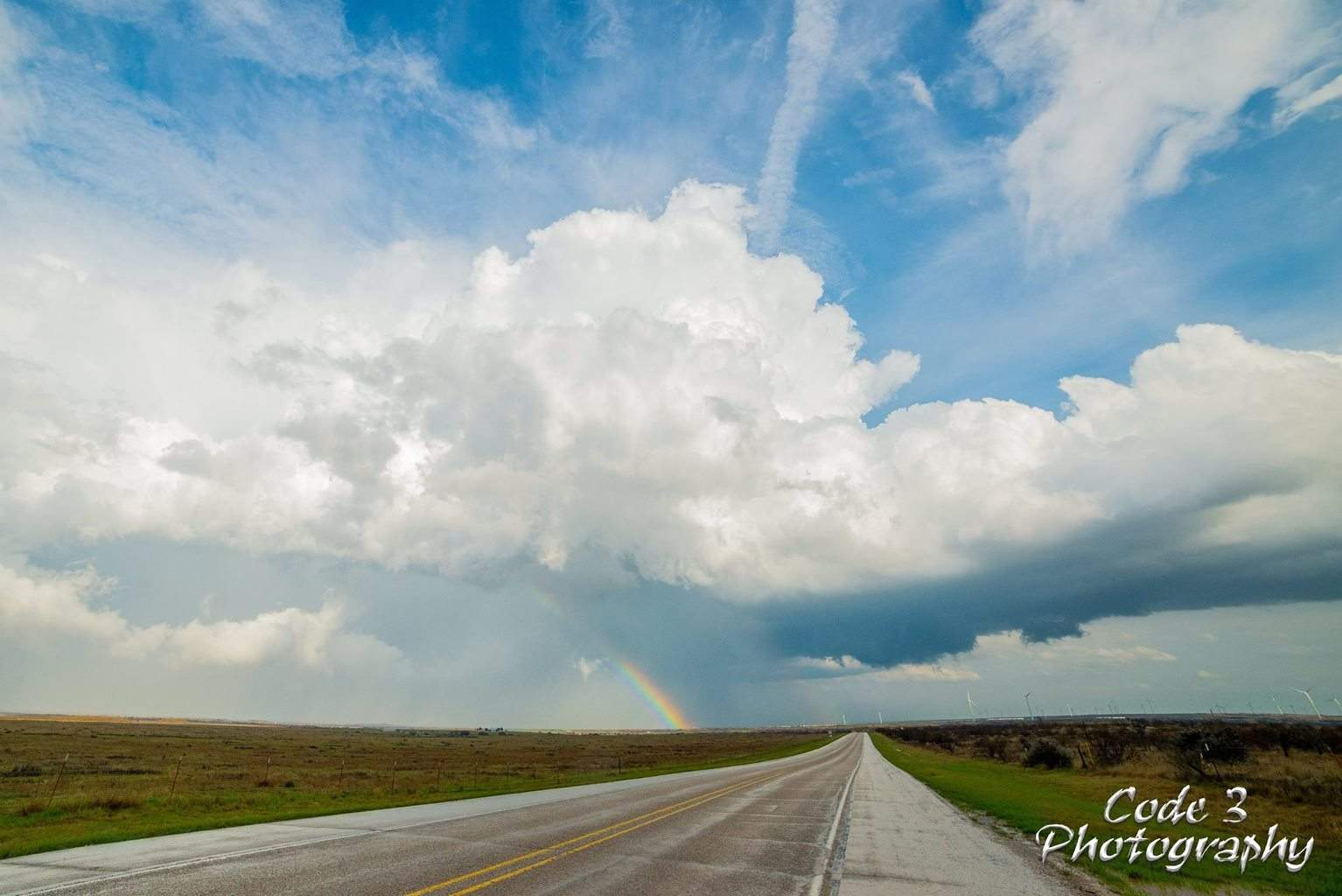 Shot from the Backside of the Storms in Texas today. 3/19/14 Joy, TX
