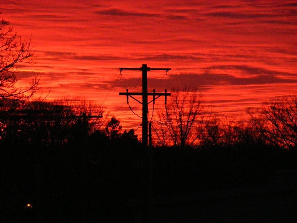 I just wanted to share this spectacular sunset we had here tonight in Mansfield OH. That color was so vibrant. One of God's masterpieces.